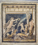 Pompeii Roman Mosaic Royalty Free Stock Photography