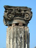 Pompeii ruined column Stock Images
