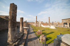 Pompeii ruins. Royalty Free Stock Photo
