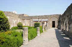 Pompeii ruins. Internal square of house in Pompeii Royalty Free Stock Image