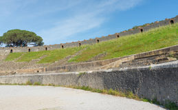 Pompeii ruins amphitheater  - Italy Royalty Free Stock Photography