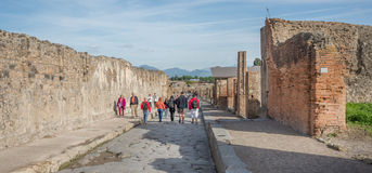 Pompeii ruins amphitheater  - Italy Royalty Free Stock Images