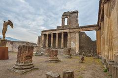 Pompeii ruins after the eruption of Vesuvius at Pompeii, Italy on June 01, 2016 Stock Photography