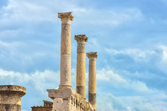 Pompeii ruins after the eruption of Vesuvius at Pompeii, Italy on June 01, 2016 Royalty Free Stock Photo