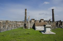 Pompeii ruins in Italy Royalty Free Stock Image