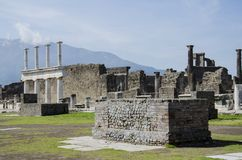 Pompeii ruins in Italy Royalty Free Stock Images