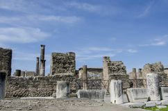 Pompeii ruins in Italy Royalty Free Stock Photo