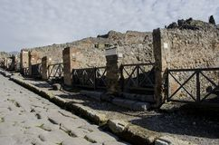 Pompeii ruins in Italy Stock Image