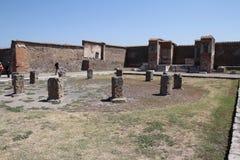 Pompeii ruins near modern Naples Stock Image