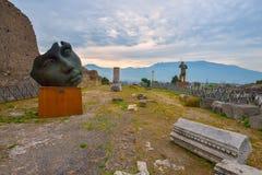 Pompeii ruiny po erupci Vesuvius przy Pompeii, Włochy na Czerwu 01, 2016 Fotografia Royalty Free