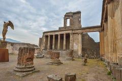 Pompeii ruiny po erupci Vesuvius przy Pompeii, Włochy na Czerwu 01, 2016 Fotografia Stock