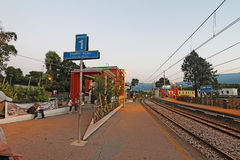 Pompeii Scavi station on the Circumvesuviana train line near Nap Stock Photos