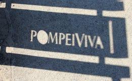 Pompeii shadow Stock Image