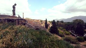 Pompeii sight. View ancient site Royalty Free Stock Images