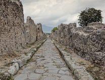 Pompeii street Stock Images