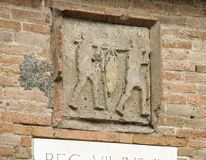 Pompeii street sign Stock Image