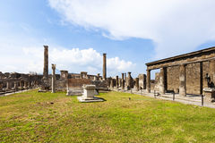 Pompeii: Temple of Apollo Royalty Free Stock Images