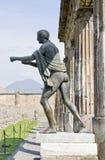 Pompeii - templo de Apolo Imágenes de archivo libres de regalías