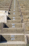 Pompeii. Town theatre. Stairs Royalty Free Stock Photo