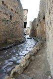 pompeii ulica Zdjęcia Stock