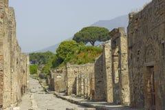 pompeii väggar Arkivfoto