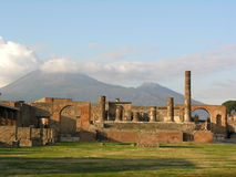 Pompeii and Vesuvius, Italy Royalty Free Stock Photos