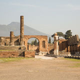 Pompeii and Vesuvius Square Stock Image
