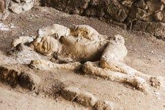 Pompeii victims Stock Photos