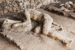 Pompeii victims Royalty Free Stock Photography