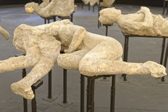 Pompeii victims Stock Images