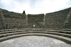 Pompeii, view of the odeion, the small theater Royalty Free Stock Photos