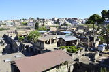 Pompeii. A view over the ruined city of Pompeii royalty free stock image