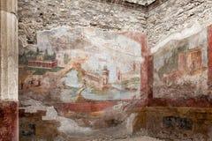 Pompeii villa Stock Image