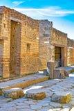 Pompeii, ville romaine antique en Italie image libre de droits