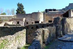 Pompeii, Włochy: antyczny Romański miasto fotografia stock