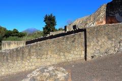 Pompeii, Włochy: antyczny Romański miasto zdjęcia royalty free