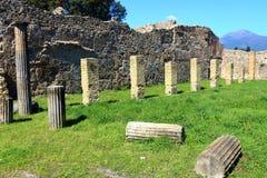 Pompeii, Włochy: antyczny Romański miasto obrazy royalty free