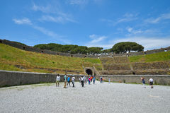 Pompeii WŁOCHY, CZERWIEC, - 01: Pompeii ruiny po erupci Vesuvius przy Pompeii, Włochy na Czerwu 01, 2016 Fotografia Stock