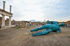 Pompeii WŁOCHY, CZERWIEC, - 01: Pompeii ruiny po erupci Vesuvius przy Pompeii, Włochy na Czerwu 01, 2016 Zdjęcie Stock