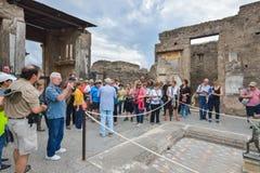 Pompeii WŁOCHY, CZERWIEC, - 01: Pompeii ruiny po erupci Vesuvius przy Pompeii, Włochy na Czerwu 01, 2016 Fotografia Royalty Free