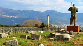 Pompeii, Włochy: Mitoraj statua Obraz Royalty Free