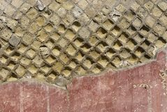 Pompeii wall. Detail as background Stock Image