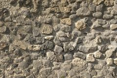 Pompeii wall. Detail as background Royalty Free Stock Image