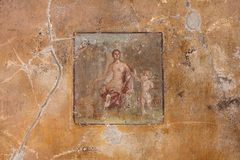 Pompeii Wall Painting Stock Photography