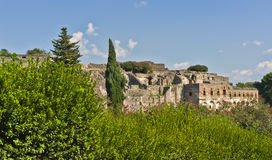 Pompeii Within The Landscape, Italy Royalty Free Stock Photography