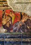 Pompejański fresk w ruinach Fotografia Royalty Free