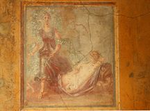 Pompeji-Fresko lizenzfreies stockfoto