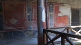 Pompeji-Hausatrium stock footage