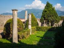 Pompeji-Ruinen ohne Touristen Lizenzfreie Stockbilder
