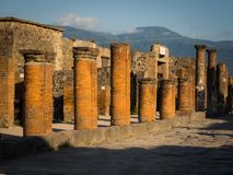 Pompeji-Ruinen ohne Touristen Lizenzfreie Stockfotografie